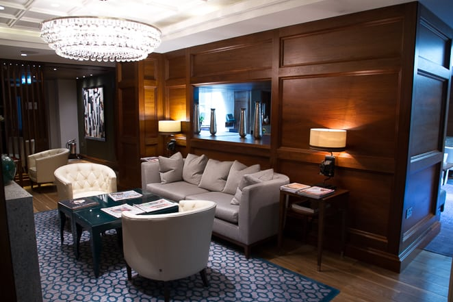Executive lounge at the Conrad London St James Hotel