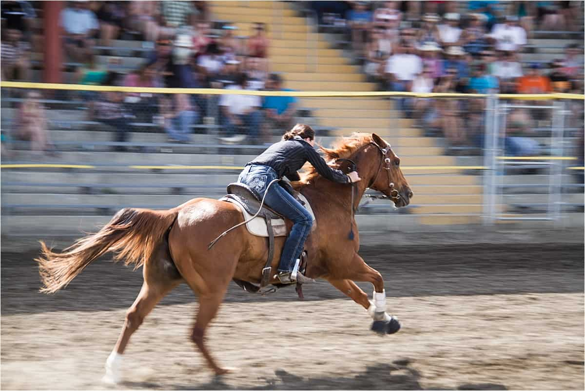Barrel racing - the main women's component of the rodeo