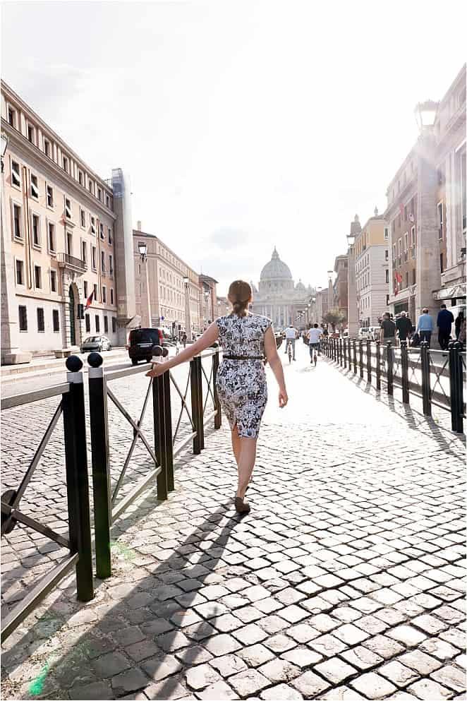 Italy - Vatican - Abigail King Walking Away