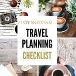 International travel planning checklist