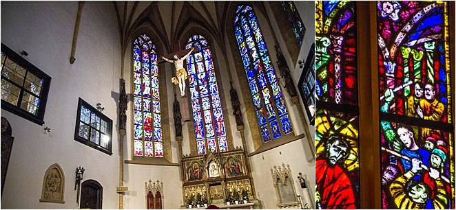 Austria Graz The Stadtpfarrkirche: the strangest stained glass window in the world...