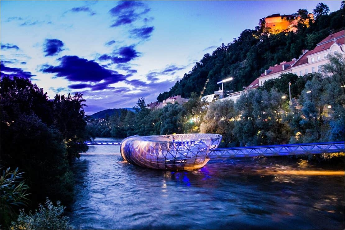 Murinsel: The Island in the Mur in Graz, Austria