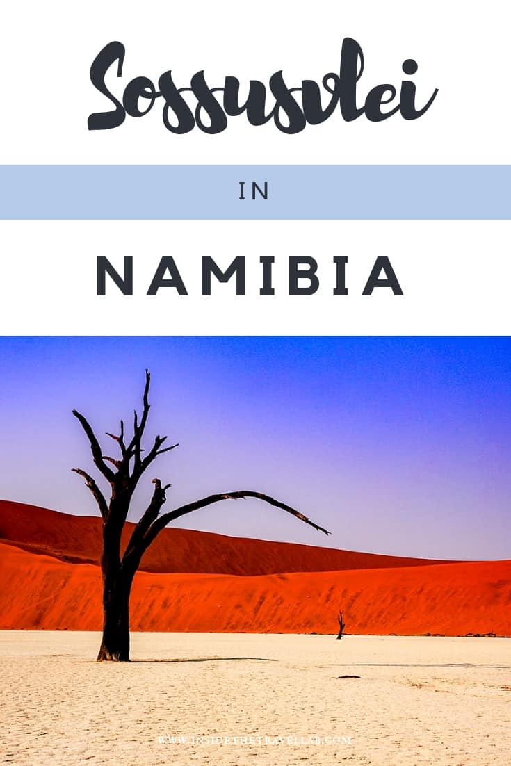 Sossusvlei in Namibia is one of the most beautiful spots in the world. Here\'s a guide to visiting Namibia, the oldest desert in the world, either on your own or in a group. Climb Dune 45 and visit Sesriem too. #Africa #Namibia