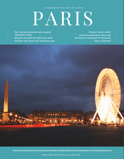24 Hours in Paris Cover Inside the Travel Lab