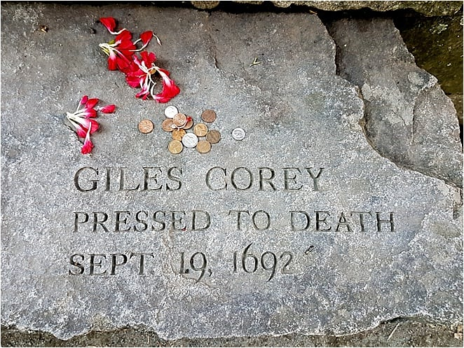 Giles Corey witch trials Boston