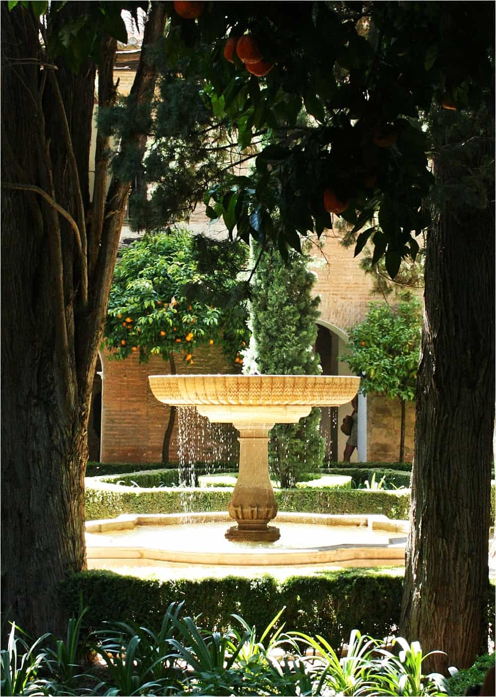 Alhambra Granada Spain Fountain and Water