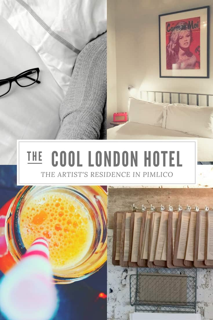 Introducing the Artist's Residence - a cool, luxury boutique hotel in Pimlico London via @insidetravellab