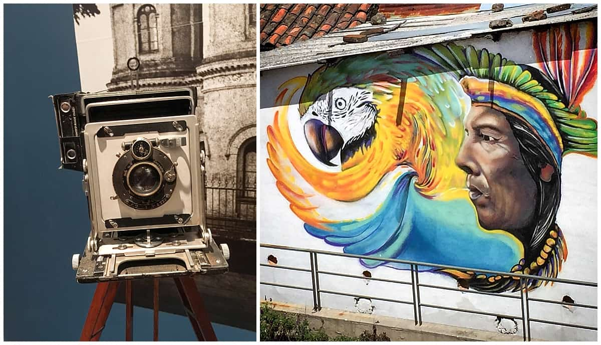 Painted murals in Quito
