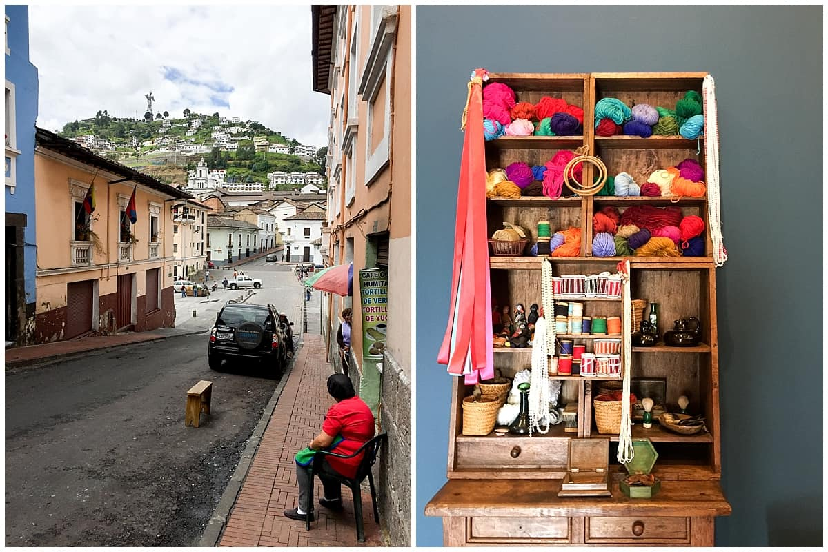 Colourful streets in Quito