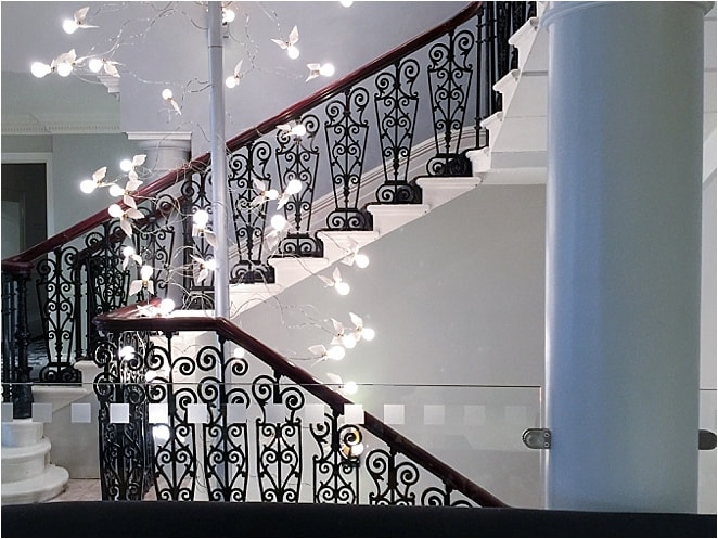 Beautiful staircase at the Ampersand Hotel