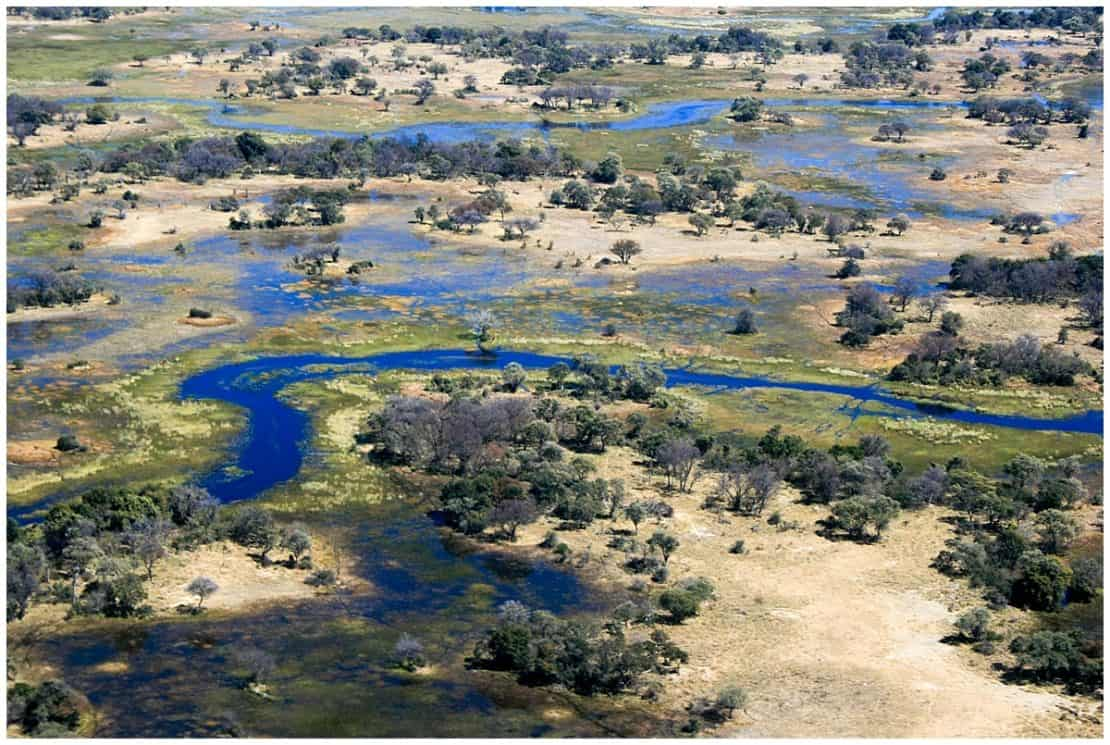 Incredible Okavango Delta in the sky