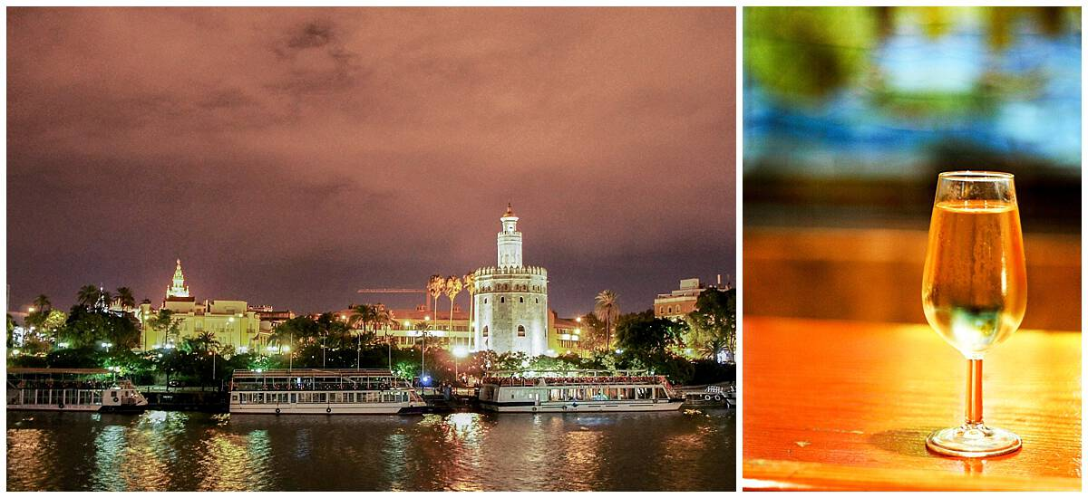 Torre del Oro on the Guadalquivir River and Fino Sherry