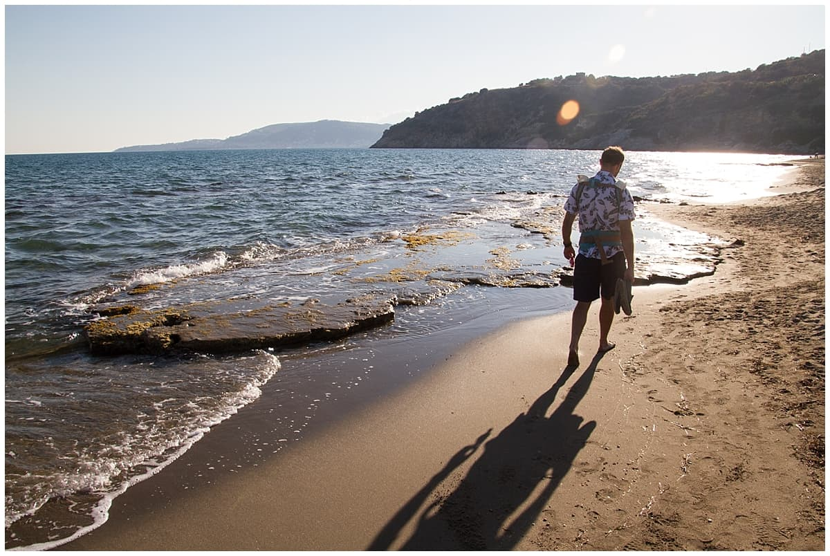 Walking along the beaches of the Peloponnese