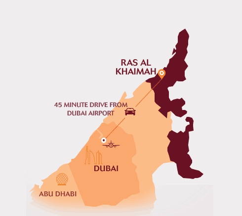 Map of Ras Al Khaimah