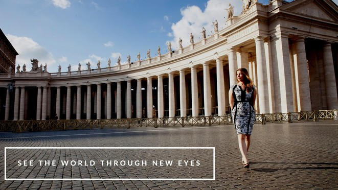 See the world through new eyes - Abigail King walks through Rome