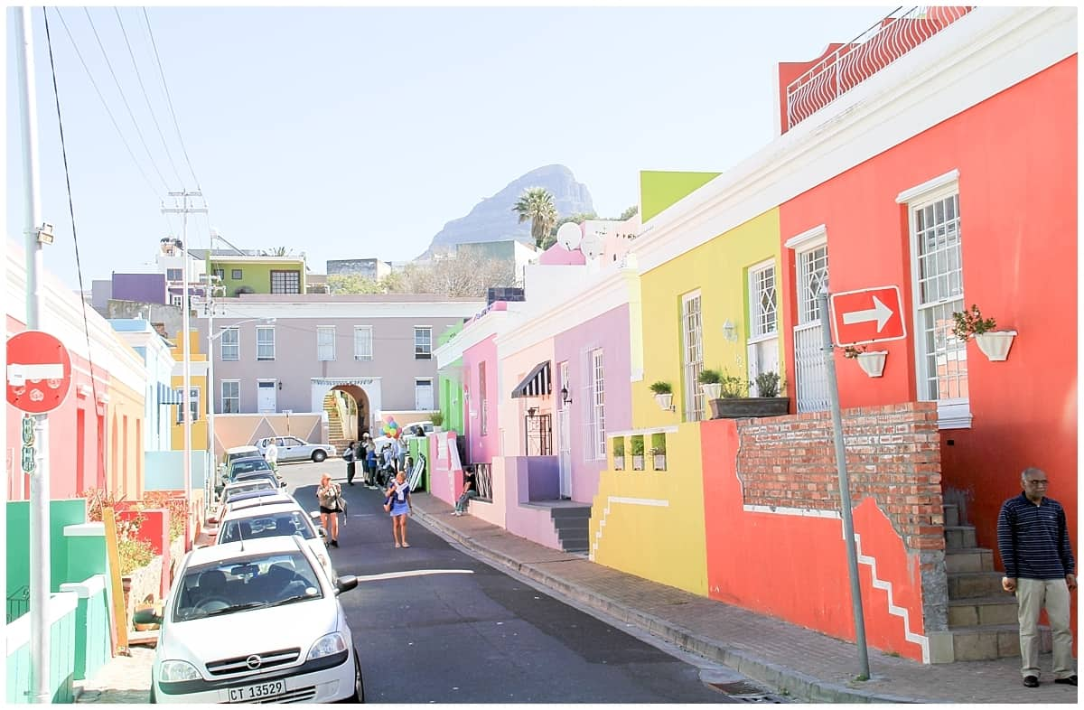 South Africa Cape Town Bo Kaap Coloured Street