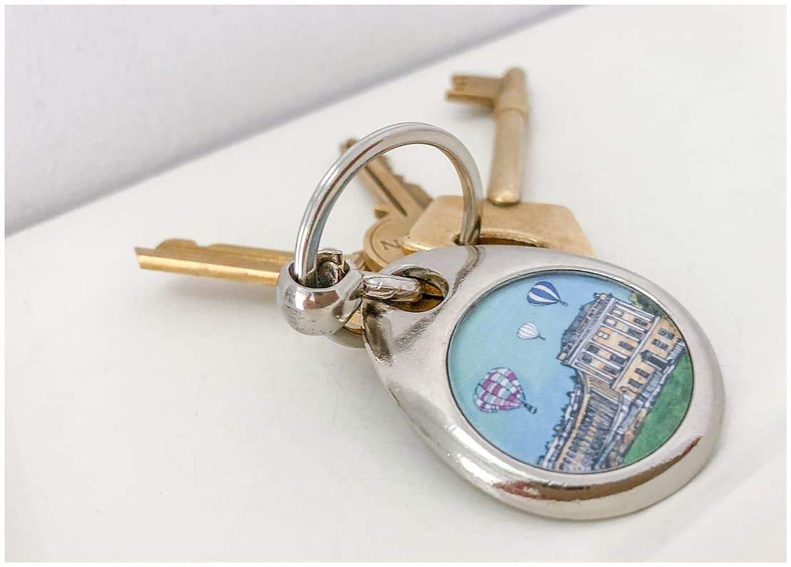 Keys for a stay at Circus House in Bath