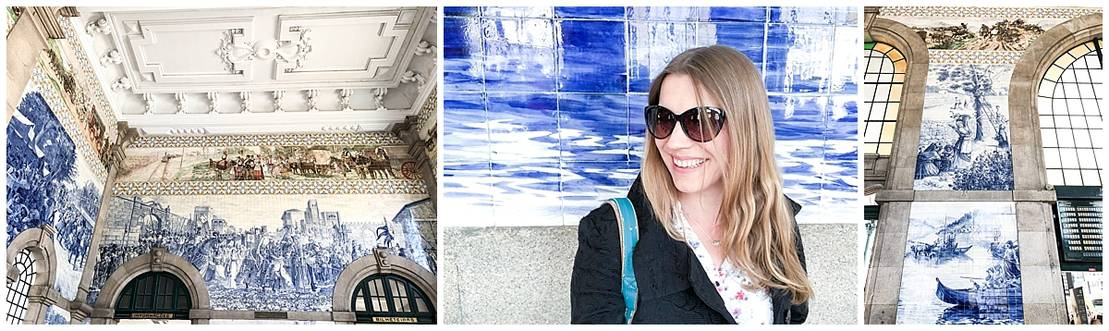 Sao Bento Station - beautiful blue ceramics in the city