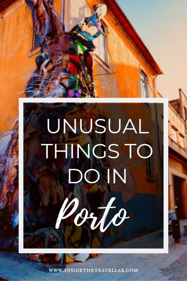 Alternative, quirky and unusual things to do in Porto, the beautiful city in northern Portugal. From art to history, Harry Potter cafes to port along the Douro River, Porto offers so much beyond the tourist fare. #Travel #Portugal