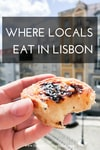 Where to eat in Lisbon cover image with pastel de nata