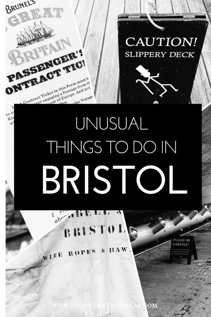 Unusual things to do in Bristol - as well as useful travel tips on where to stay in Bristol, where to eat in Bristol and how to travel to Bristol with a toddler. It\'s a sassy, fun city near London with plenty of arts and science. Think Concorde, the SS Great Britain, Oscar-winners Wallace and Gromit, subversive Banksy and more. Enjoy! #Bristol #Travel #England #visitBristol