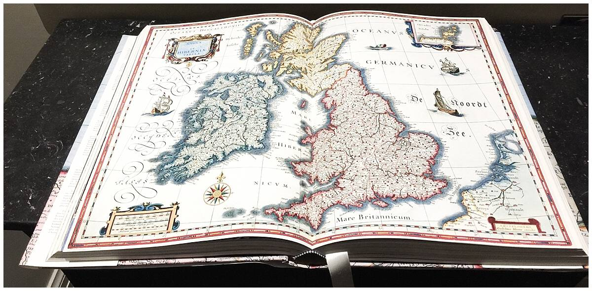 Vintage map at The Arch Hotel London