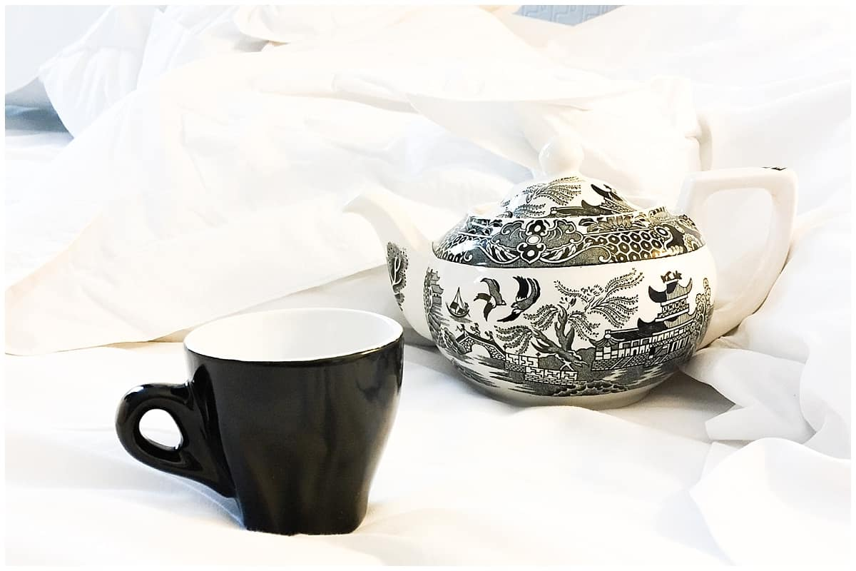Teapot and teacup at the Arch London Hotel