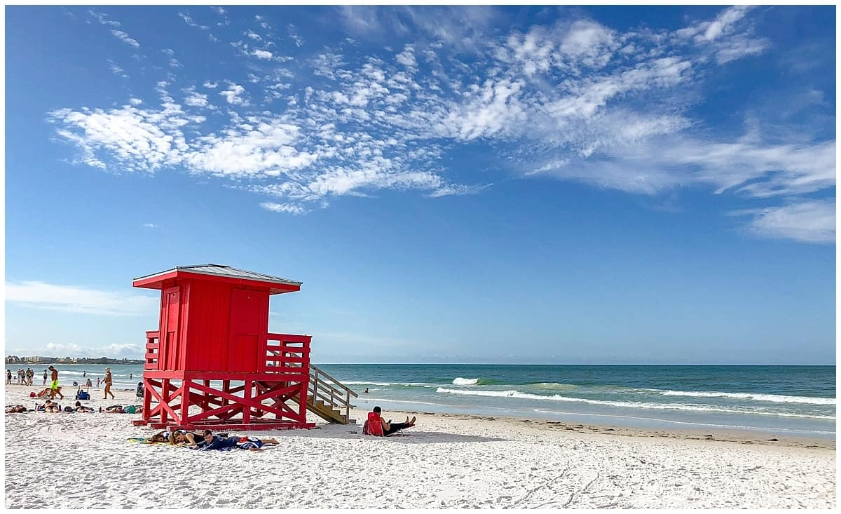 Siesta Beach near Florida Fly Drive Itinerary