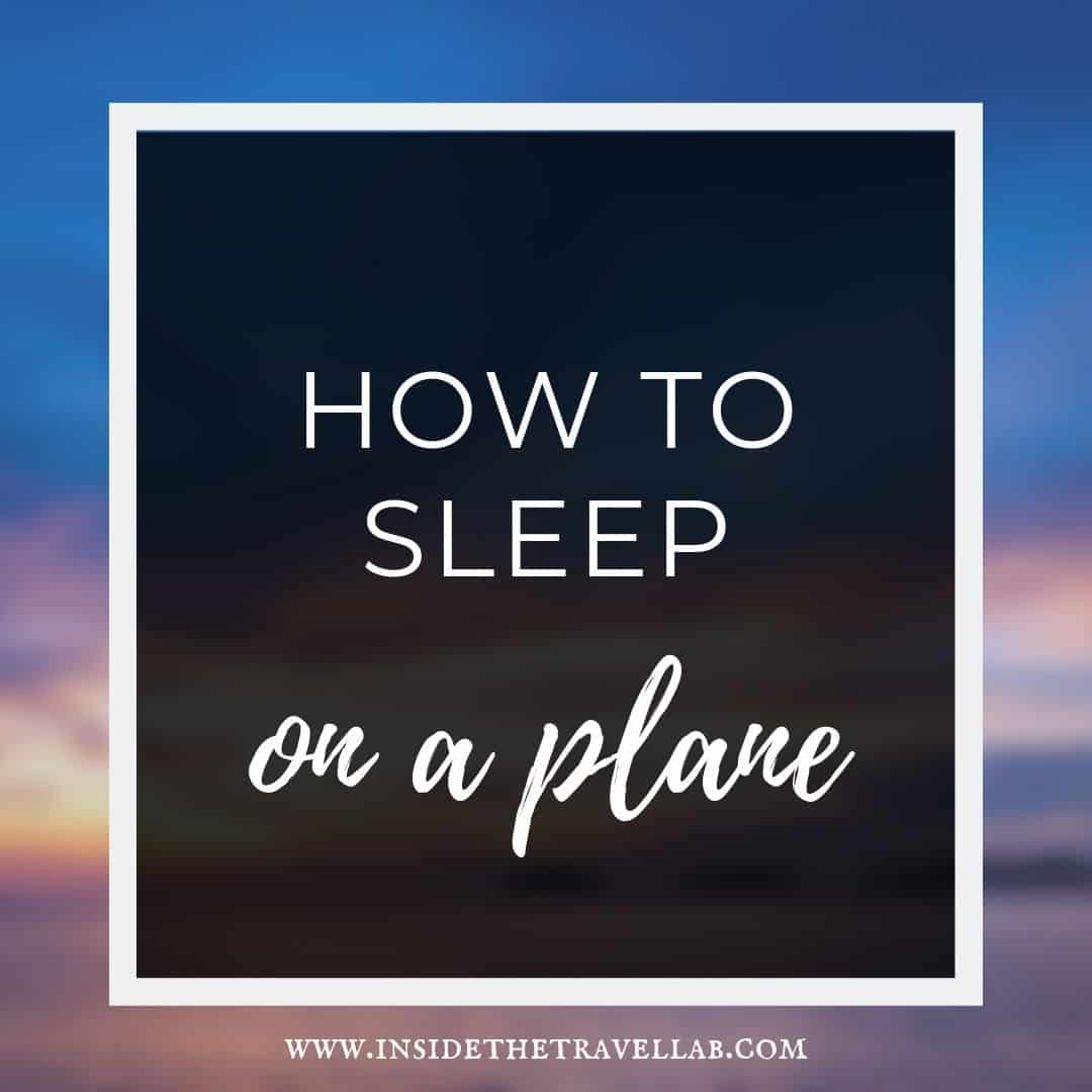 How to sleep on a plane text over sunset advice article