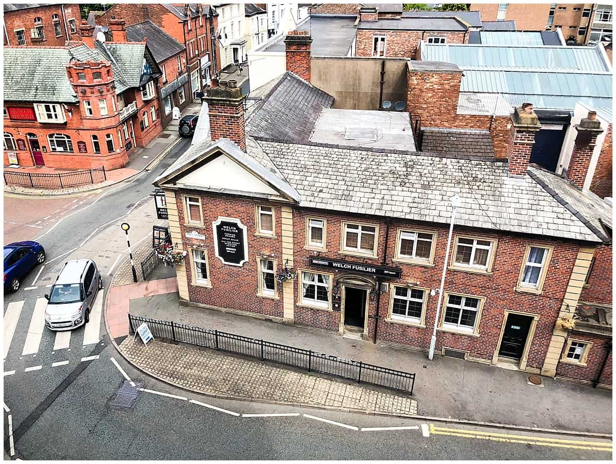 Welsh heritage - view of Wrexham from above