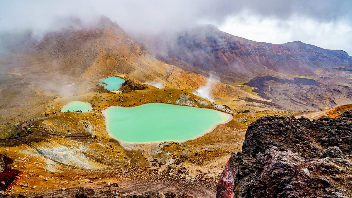 7. Tongariro Crossing in New Zealand.