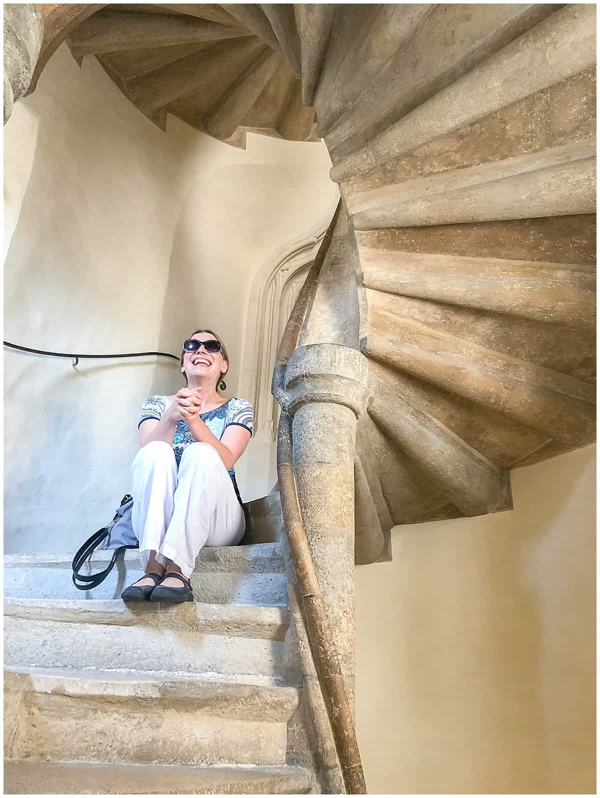 Abigail King in Double staircase Graz