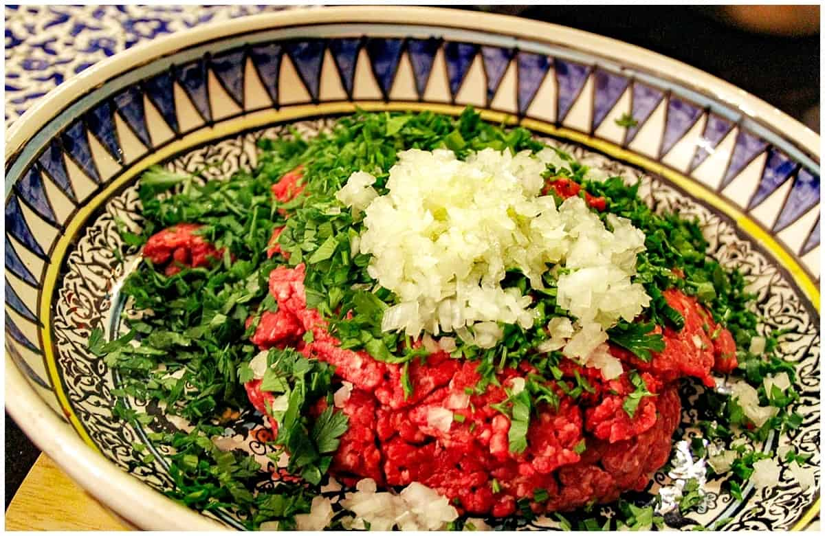 Raw ingredients of traditional Jordanian Food
