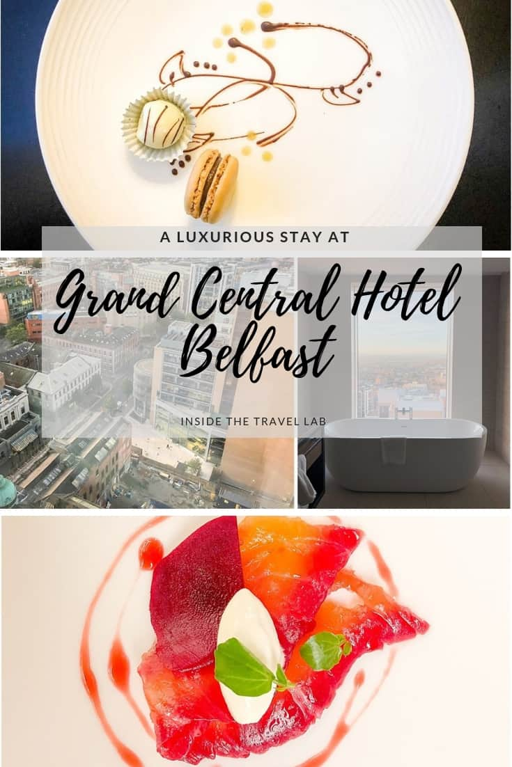 Looking for a great place to stay in Belfast? A review of the luxurious Grand Central Hotel Belfast - a beautiful boutique hotel in Belfast. #VisitBelfast #Belfast #Review