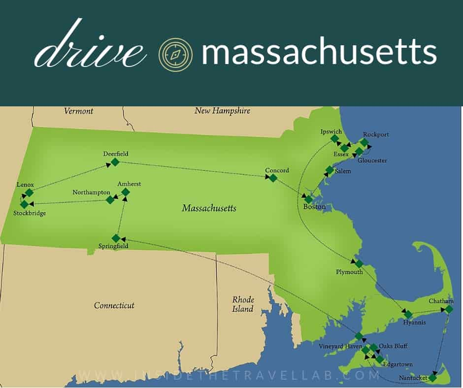 Drive Massachusetts Map of Boston Road Trips