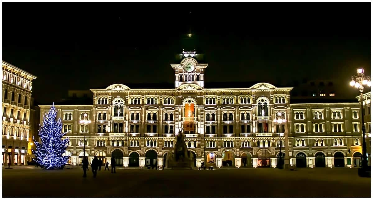 Christmas lights in Trieste