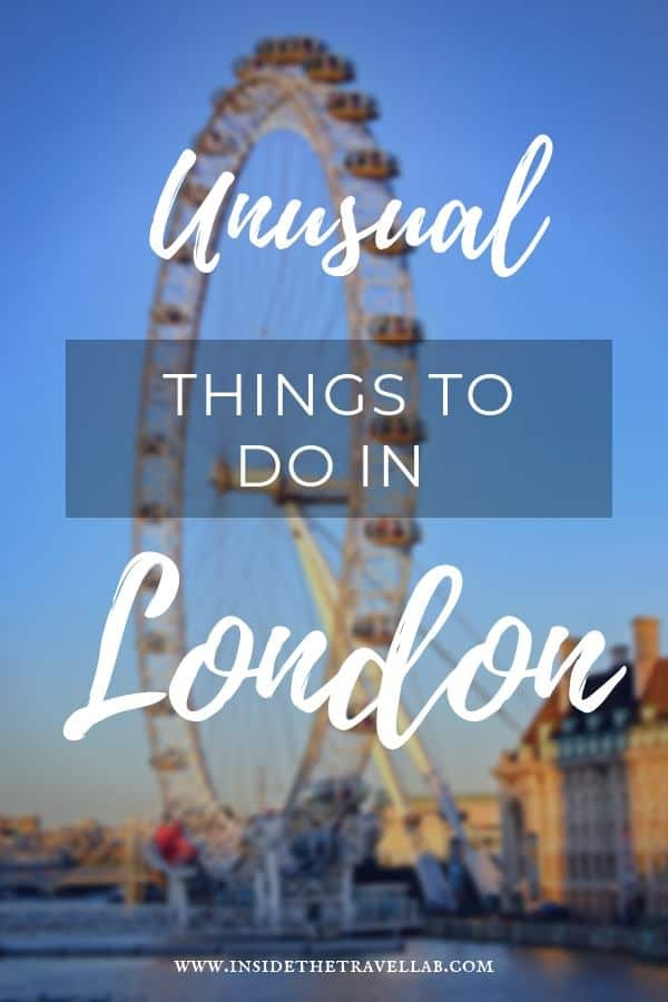 Cool and unusual things to do in London from a local. Explore London, England in a way that most tourists miss by heading to wild parks, satirical art installations, quirky museums and unusual spots for tea. #TravelEngland #TravelLondon #London