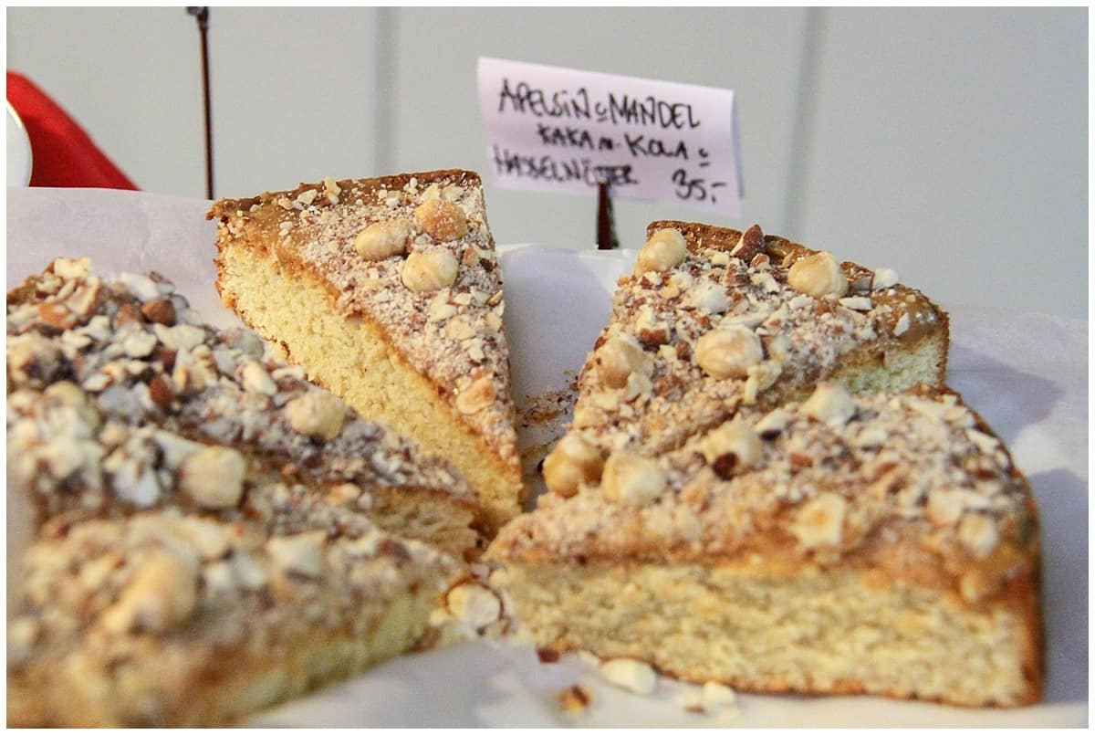 Fika coffee hazelnut cake - part of the tradition of fika