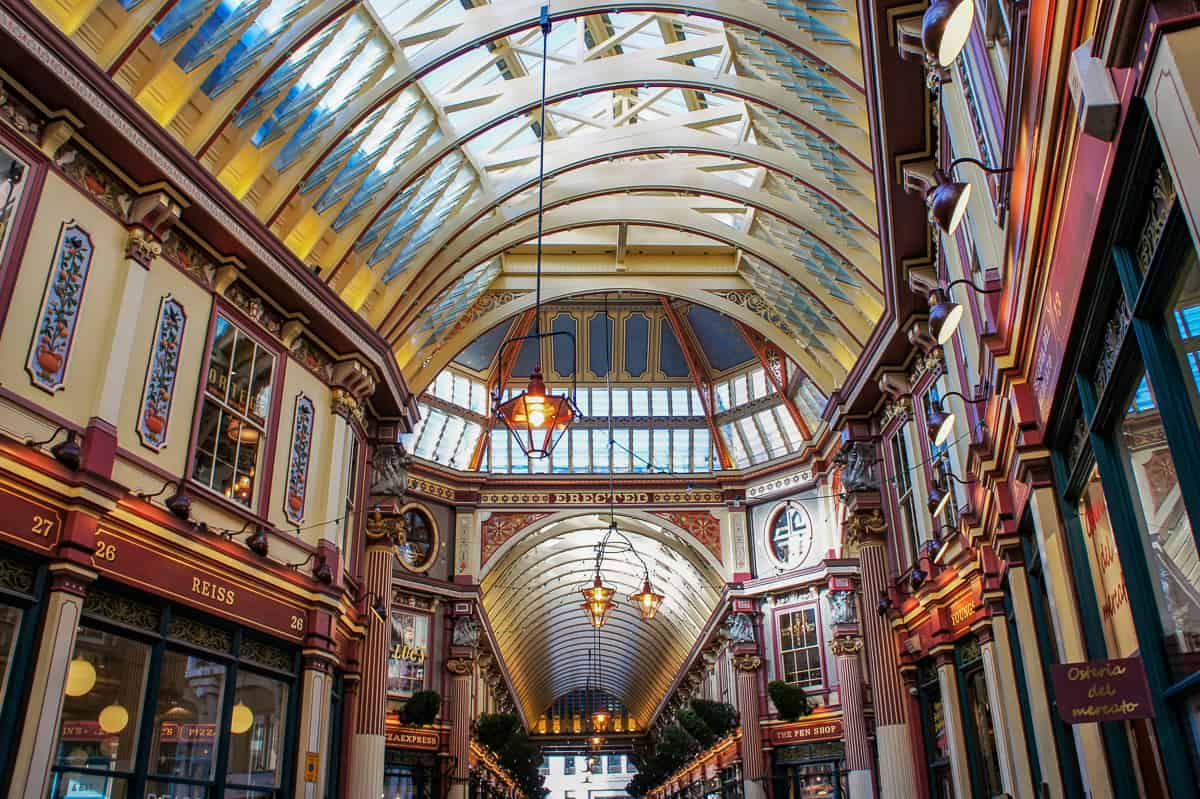 Victorian arcade in the City of London