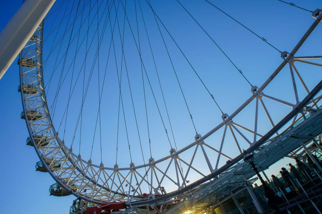 Glimpse of the London Eye in a 72 hour itinerary in London