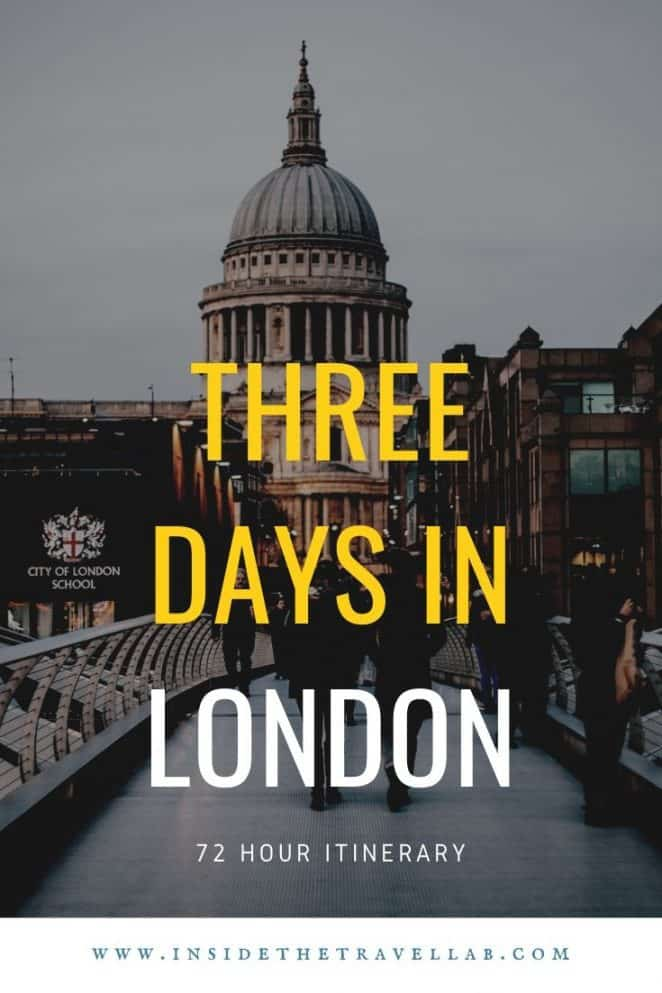 Three days in London England Itinerary Image