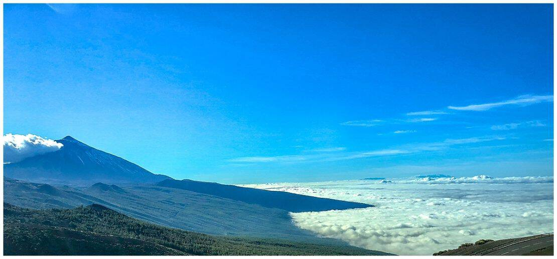 View above the clouds on El Teide in Tenerife