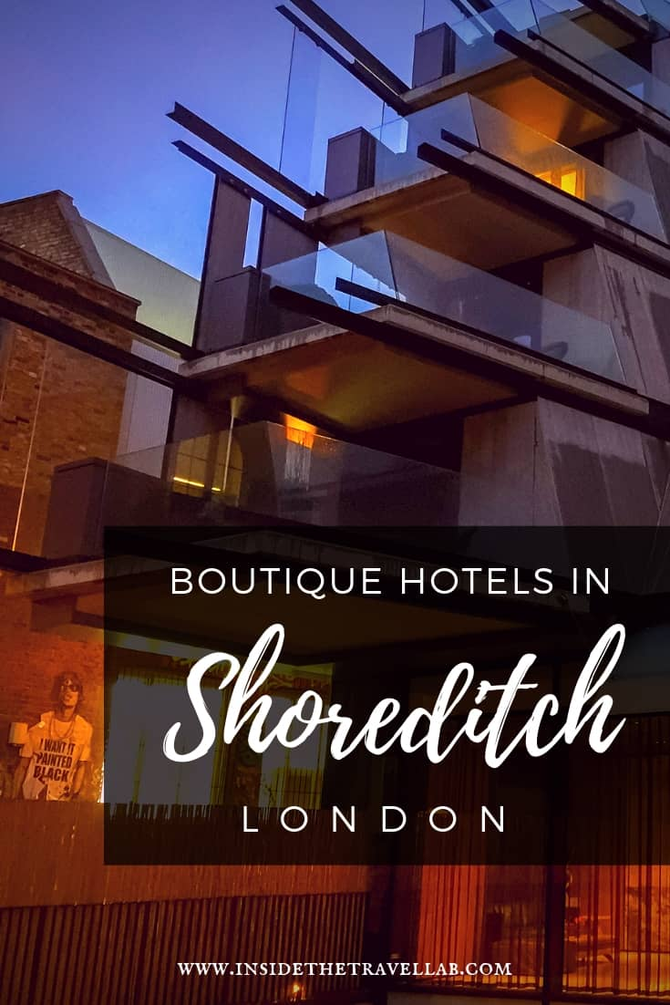 A round-up of the best boutique hotels in Shoreditch, London and my insider secret on how to get 50% off #London #Shoreditch #Hotels