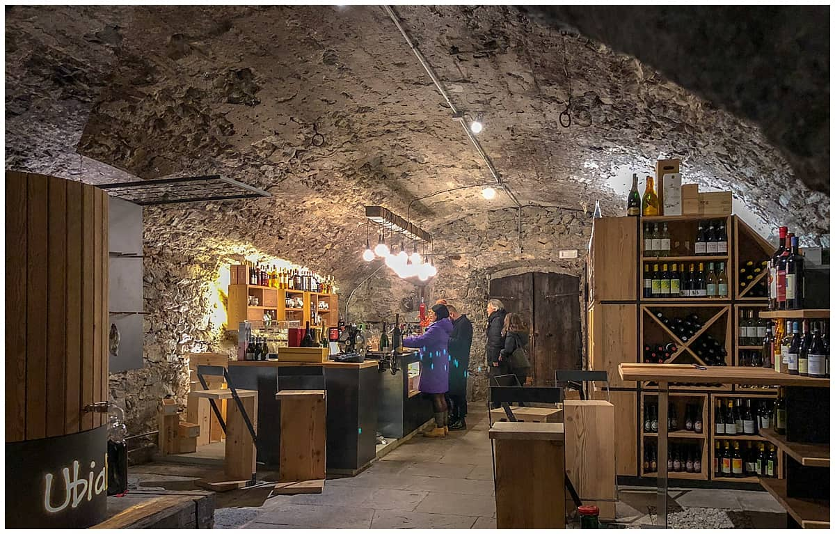 Crotto in Chiavenna Italy - Cave for aperitivo