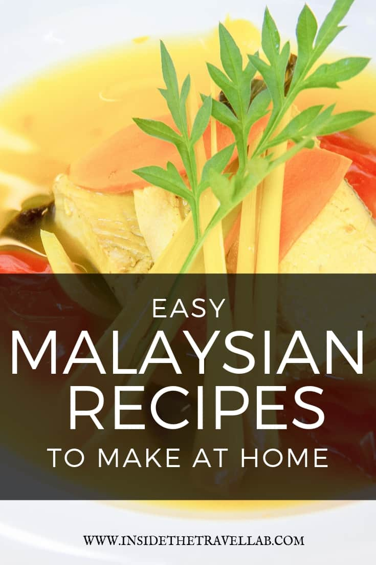 Easy Malaysian Recipes to make at home. Quick, dairy free and low carb, these delicious recipes can be made outdoors or inside and offer a fresh new flavour to try. Learned at a cooking school in Sabah, Borneo, Malaysia. Tuck in and try! #recipes #Malaysian #foodie