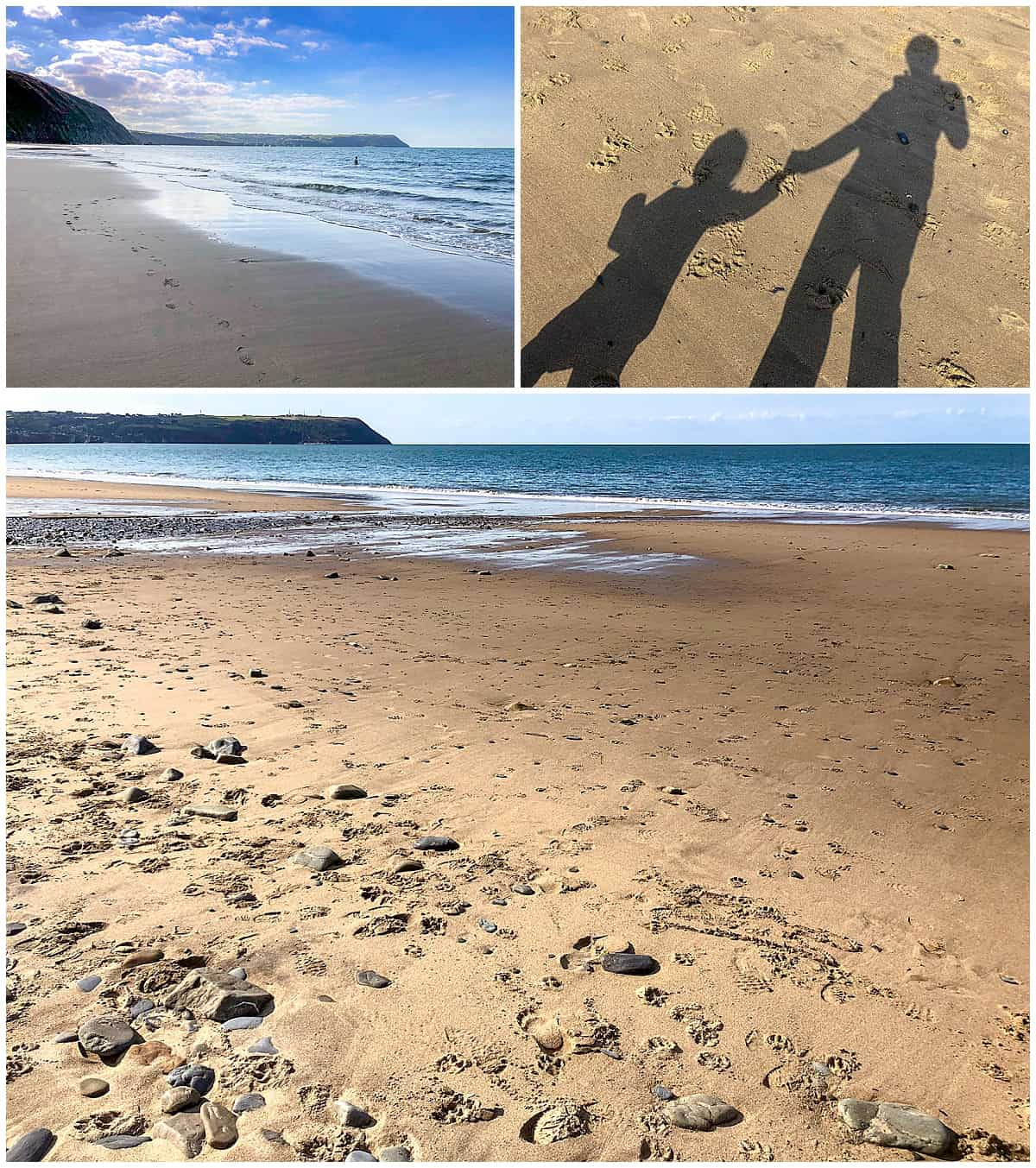 Penbryn Beach Wales - having fun with a toddler