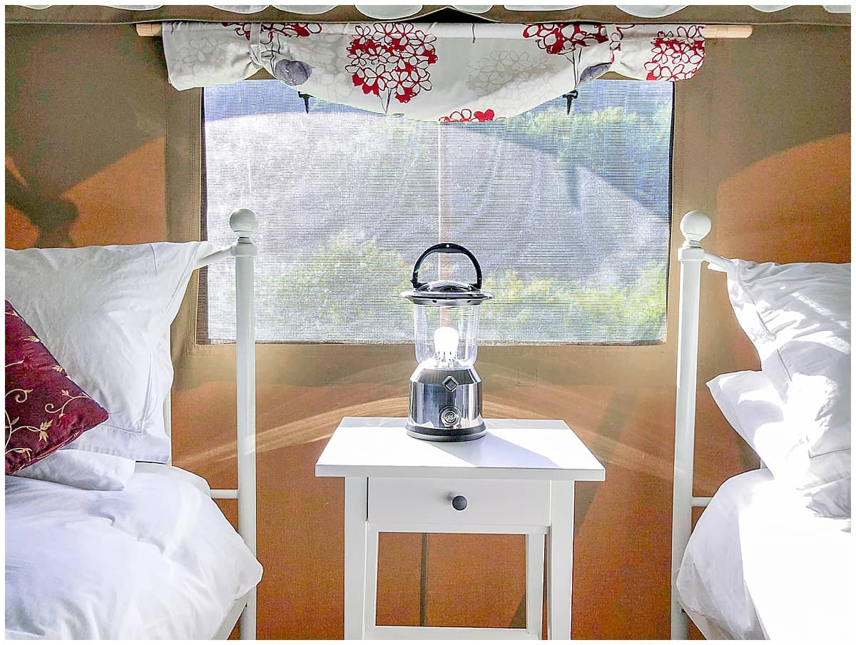 Glamping at luxurious glampsite in Wales Felin Geri