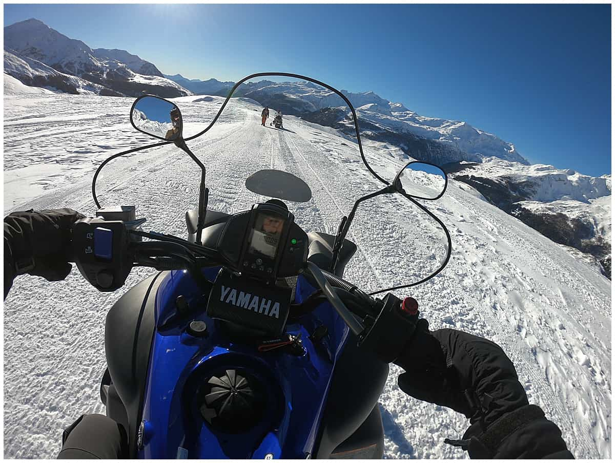 Snow mobile in Italy