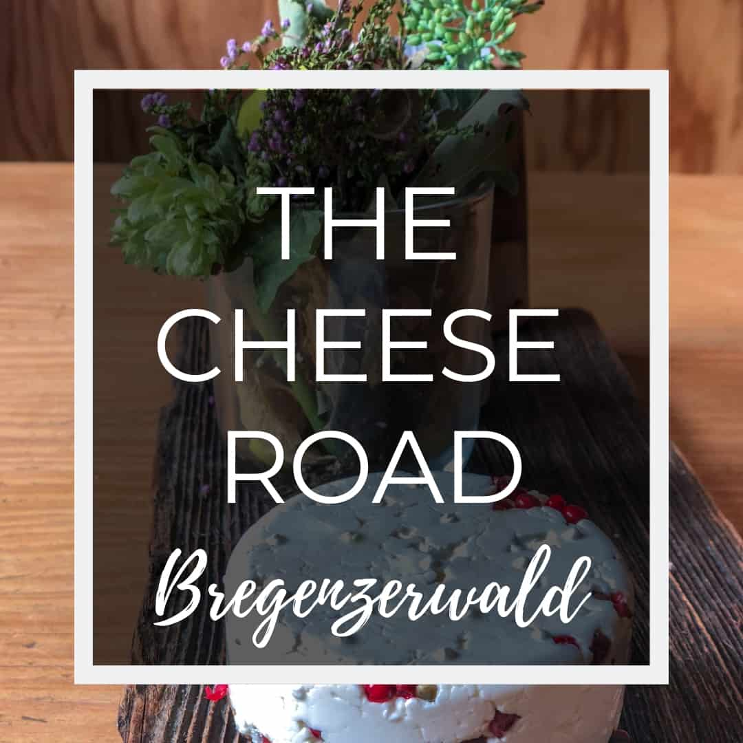 The Kasestrasse Cheese Route in Bregenzerwald Austria