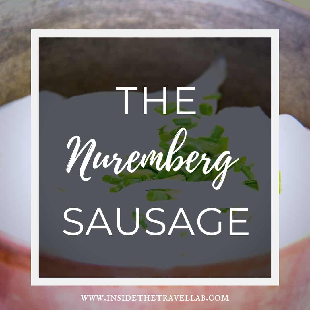 The Nuremberg sausage or bratwurst